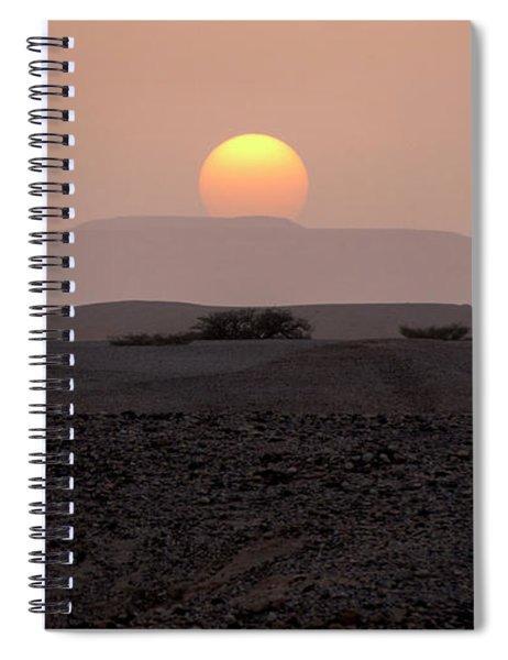 Spiral Notebook featuring the photograph Evening Falls On The Prairie by Arik Baltinester