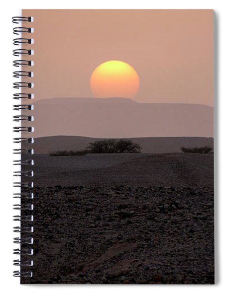 Evening Falls On The Prairie Spiral Notebook