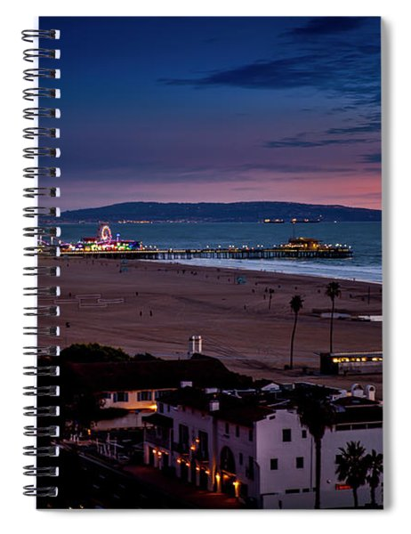Evening Glow On The Pier Spiral Notebook