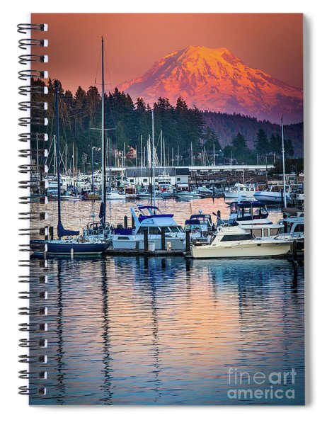 Evening In Gig Harbor Spiral Notebook