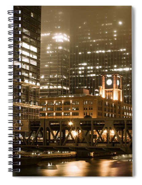 Evening In The Windy City Spiral Notebook