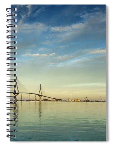 Evening Lights On The Bay Cadiz Spain Spiral Notebook