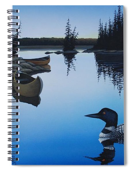 Evening Loons Spiral Notebook