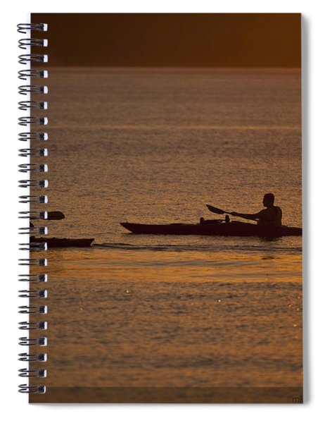 Evening On The Water Spiral Notebook