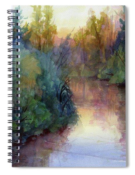 Evening On The Willamette Spiral Notebook