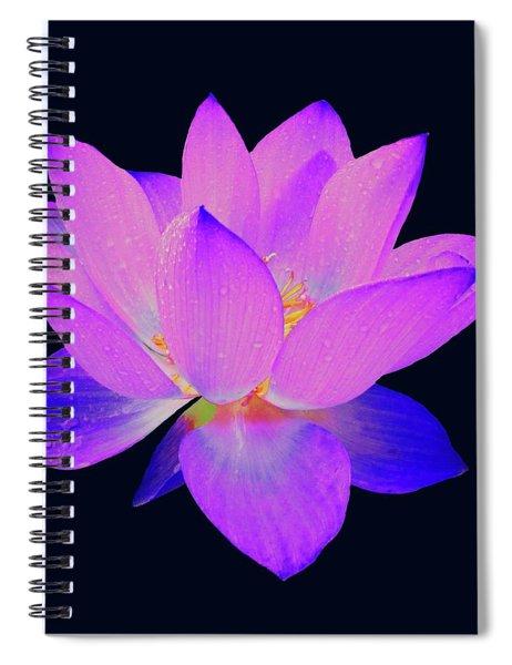 Evening Purple Lotus  Spiral Notebook