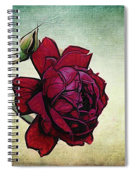 Evening Rose Perfection Spiral Notebook