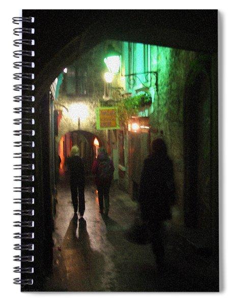 Evening Shoppers Spiral Notebook