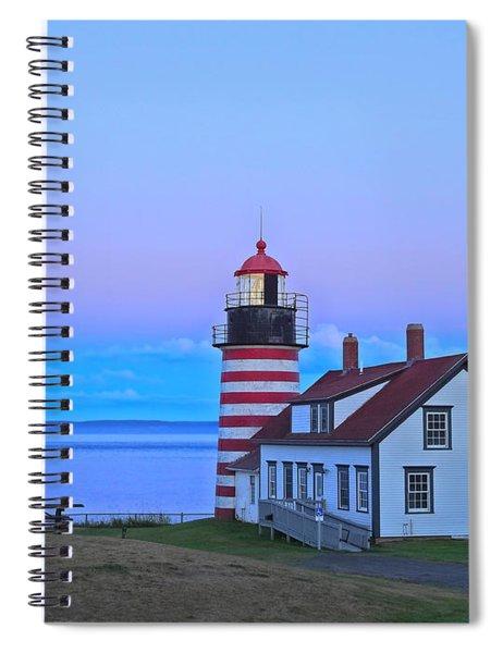 Evening Skies Of Green Spiral Notebook