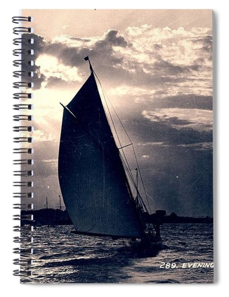 Evening, Sydney Harbour, Kerry And Co, Sydney, Australia, C. 1884-1917 Spiral Notebook