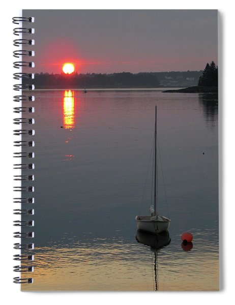 Evening View From The Dock Spiral Notebook