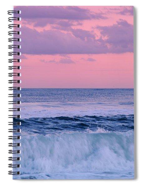 Evening Waves 2 - Jersey Shore Spiral Notebook