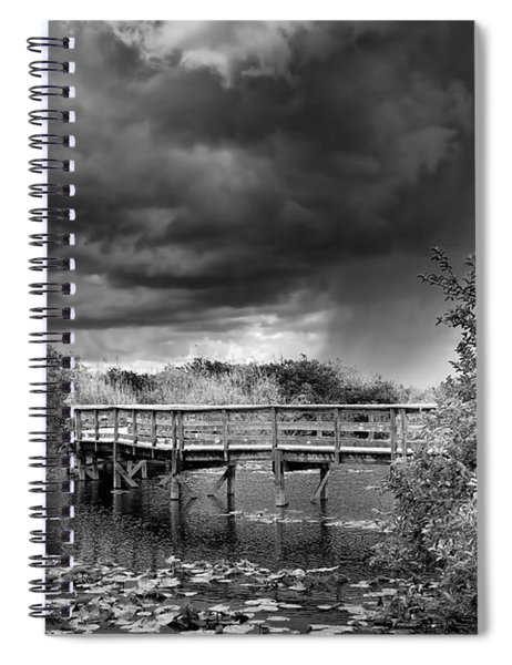 Everglades 0823bw Spiral Notebook