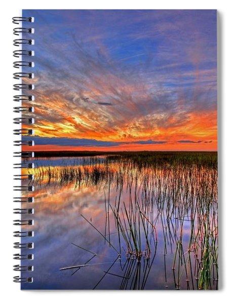 Everglades Sunset Spiral Notebook