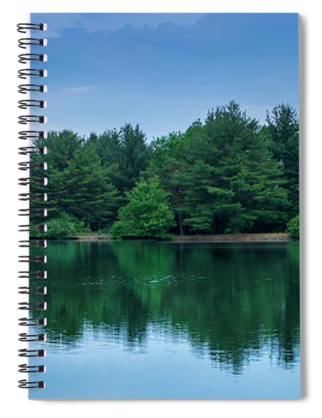 Evergreen Lake Reflections Spiral Notebook