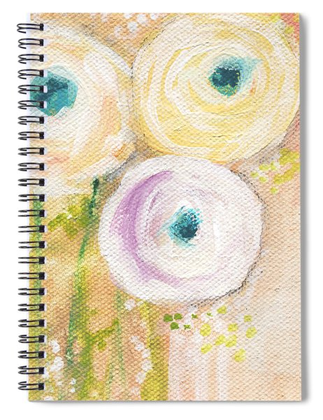 Everlasting- Expressionist Floral Painting Spiral Notebook