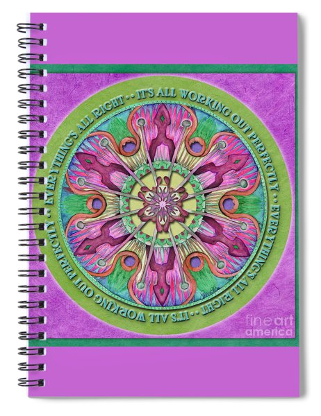 Everything's All Right Mandala Prayer Spiral Notebook