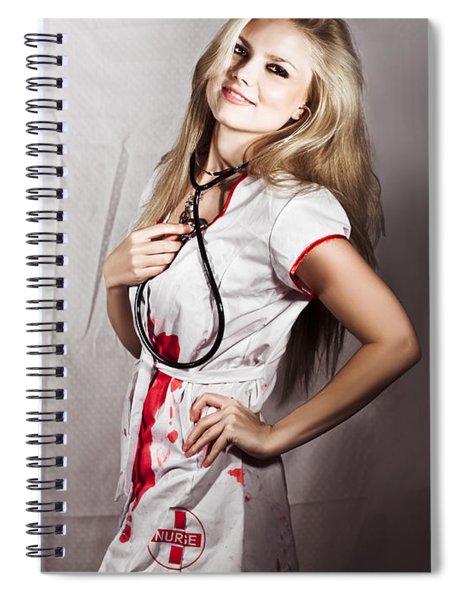 Evil Nurse Spiral Notebook