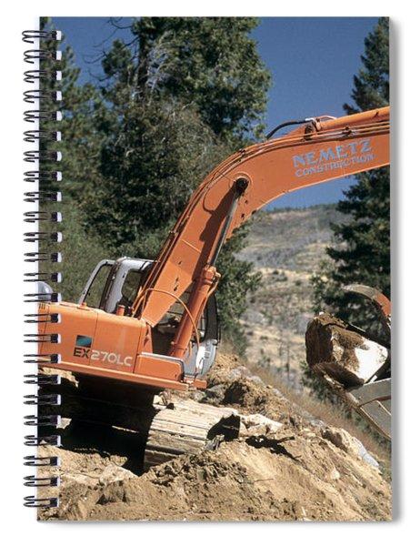 Excavator At Work Spiral Notebook