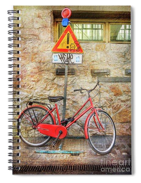 Exclamation Hot Bicycle Spiral Notebook