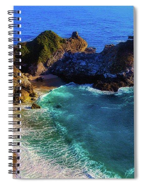 Exotic Big Sur Waterfall Spiral Notebook