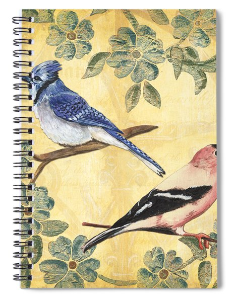 Exotic Bird Floral And Vine 1 Spiral Notebook