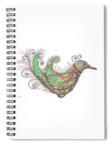 Exotic Bird I Spiral Notebook