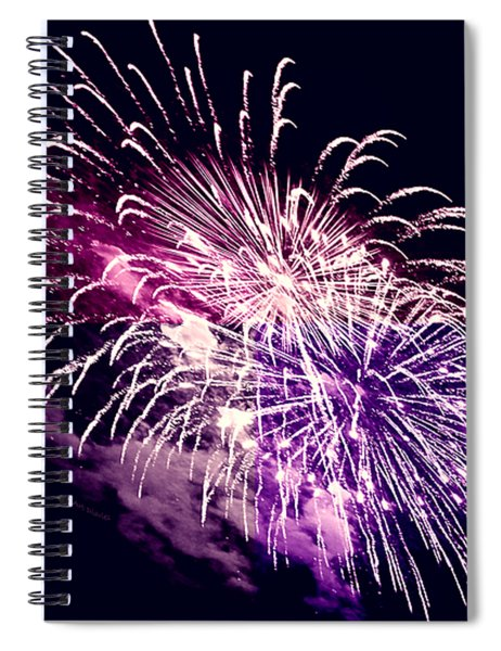 Exploding Stars Spiral Notebook