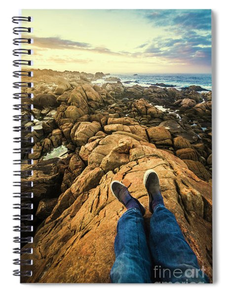 Exploring The Beaches Of Western Tasmania Spiral Notebook