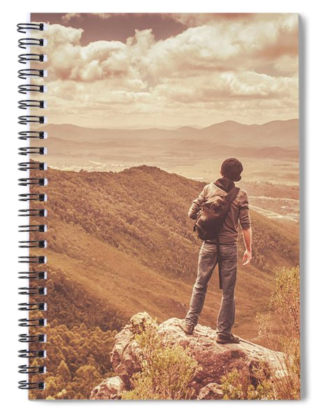 Exploring The Rugged West Coast Of Tasmania Spiral Notebook