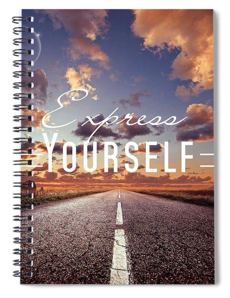 Express Yourself Spiral Notebook