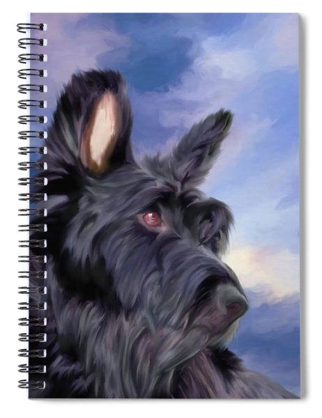 Expression Is Everything Scottish Terrier Dog Spiral Notebook