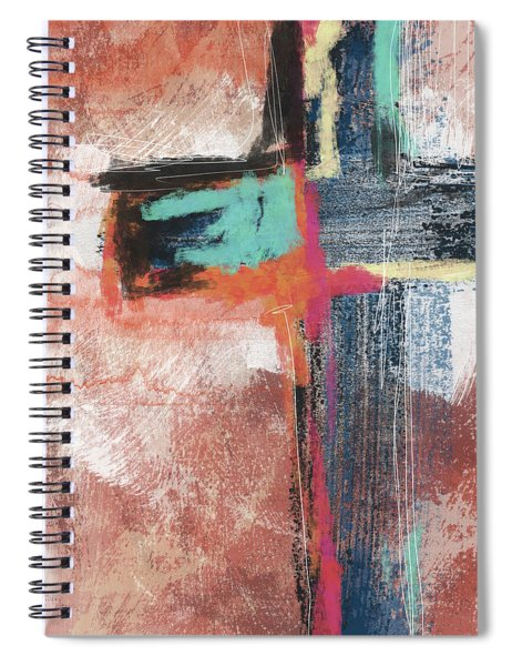 Expressionist Cross 5- Art By Linda Woods Spiral Notebook