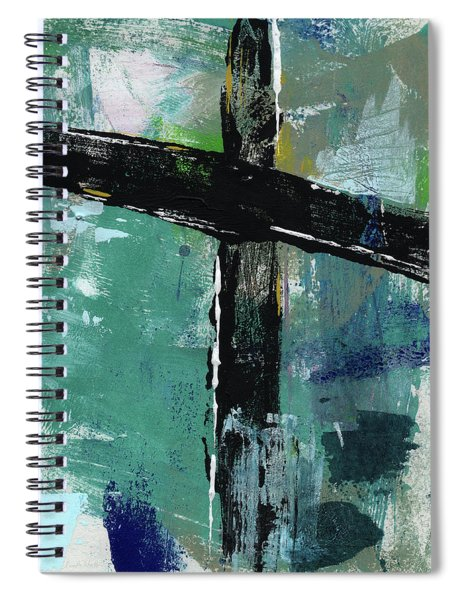 Expressionist Cross 8- Art By Linda Woods Spiral Notebook