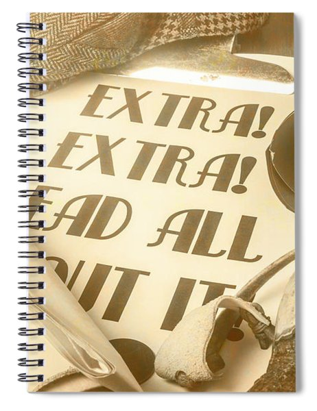 Extra Extra Read All About It Spiral Notebook