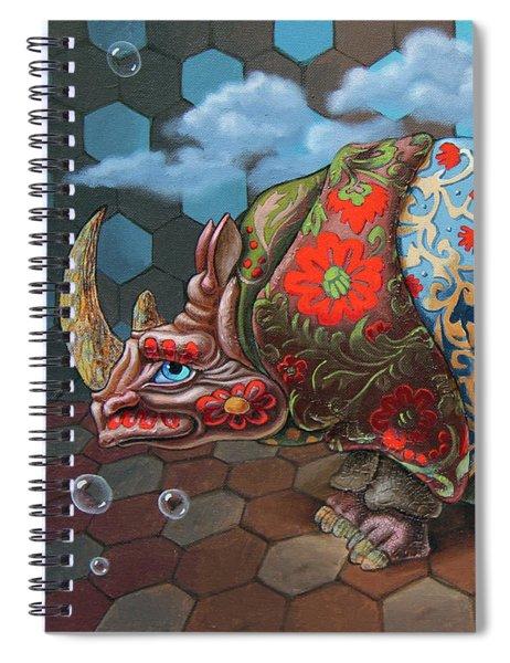 Extremely Strange Rhinoceros Spiral Notebook