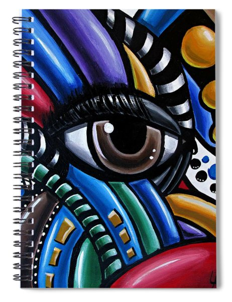 Eye Abstract Art Painting - Intuitive Chromatic Art - Pineal Gland Third Eye Artwork Spiral Notebook