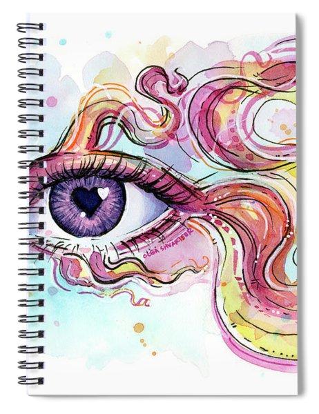 Eye Fish Surreal Betta Spiral Notebook