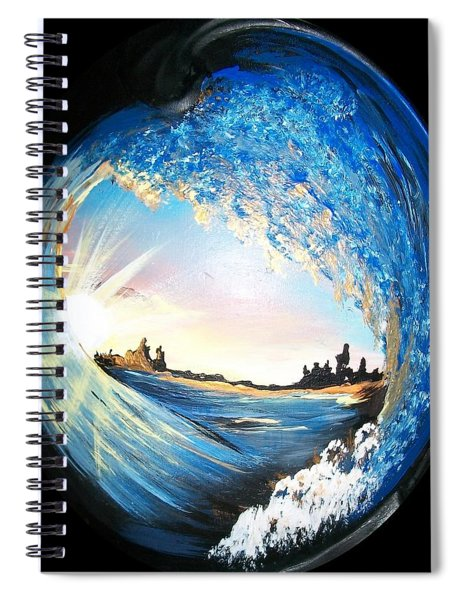 Eye Of The Wave Spiral Notebook