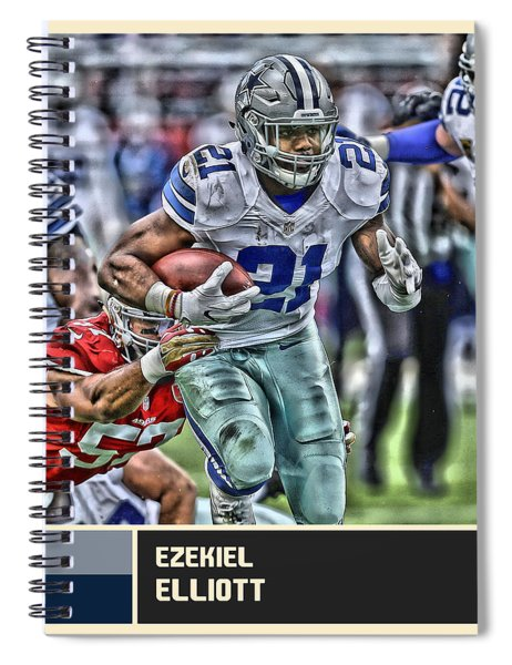 Ezekiel Elliott Dallas Cowboys Spiral Notebook