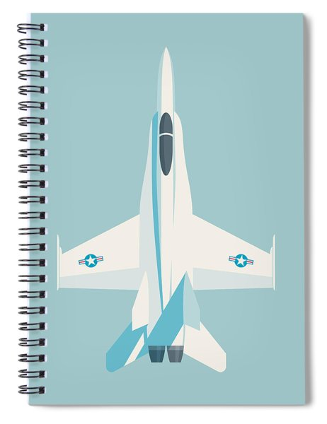 F-18 Hornet Jet Fighter Aircraft - Sky Spiral Notebook
