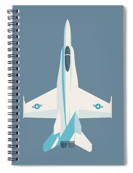 F-18 Hornet Jet Fighter Aircraft - Slate Spiral Notebook