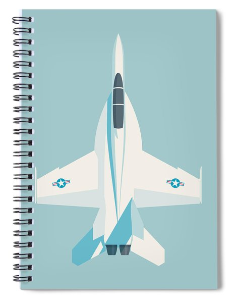 F-18 Super Hornet Jet Fighter Aircraft - Sky Spiral Notebook
