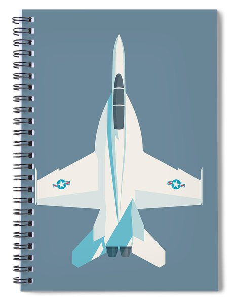 F-18 Super Hornet Jet Fighter Aircraft - Slate Spiral Notebook