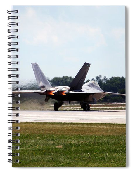 F-22 Ready And Waiting Spiral Notebook