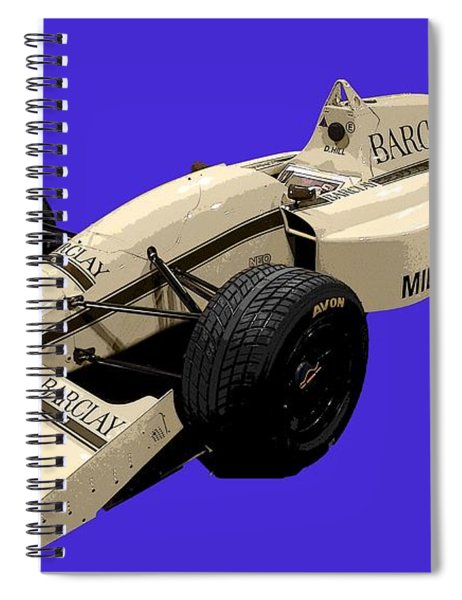 F1 B Racer Art Spiral Notebook