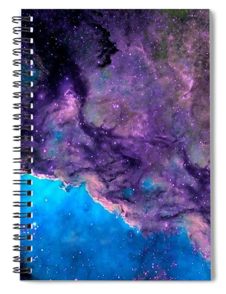 Purple Nebula Spiral Notebook