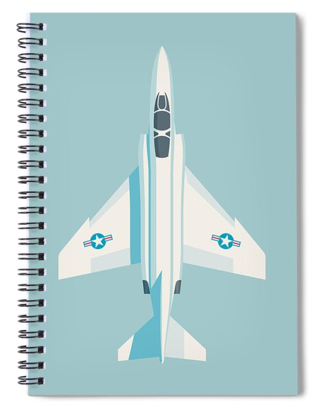 F4 Phantom Jet Fighter Aircraft - Sky Spiral Notebook