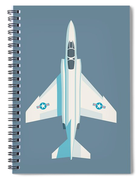 F4 Phantom Jet Fighter Aircraft - Slate Spiral Notebook