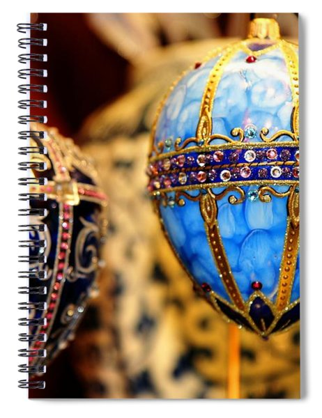 Faberge Holiday Eggs Spiral Notebook